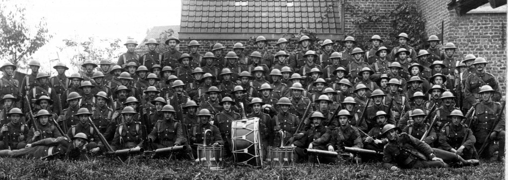 'B' Company, 9th (North) Irish Horse Battalion, Princess Victoria's Royal Irish Fusiliers, Mouscron November 1918