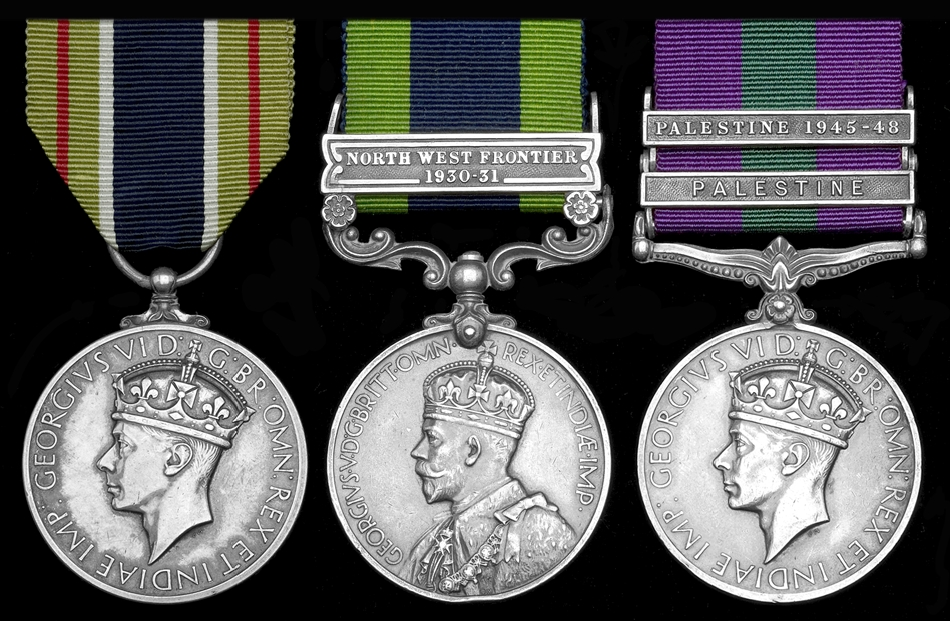 The Colonial Police Medal for Gallantry awarded to British Sergeant Dennis Baily Richards, Palestine Police