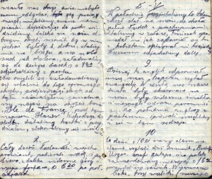 Toni Paszkiewicz's diary describing the beginning of his journey to the United Kingdom