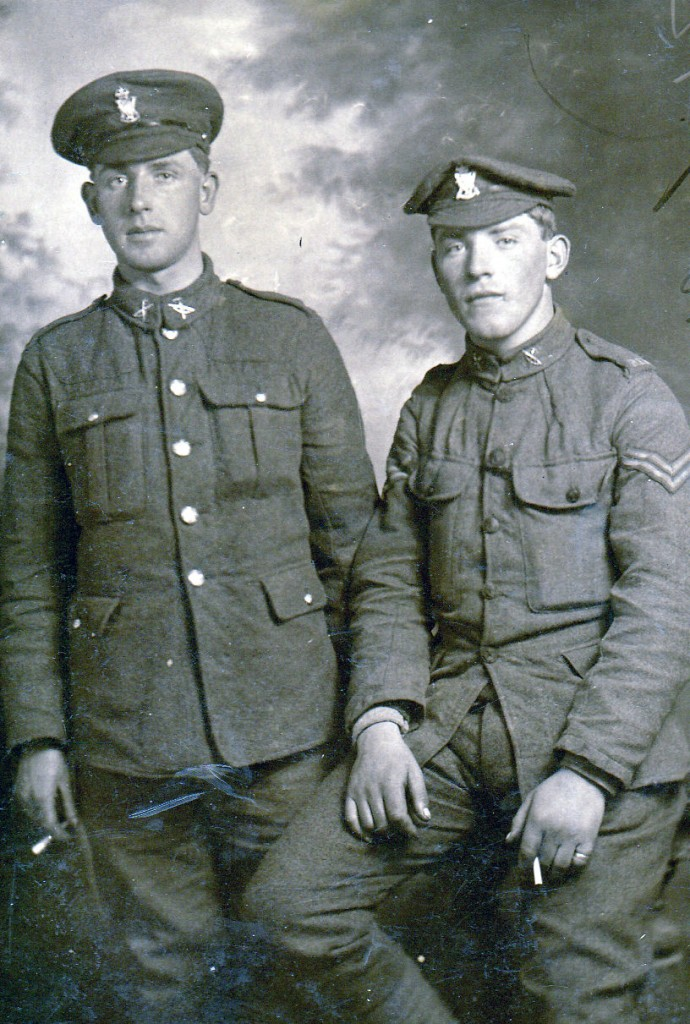 Corporal George Sergeant (right)