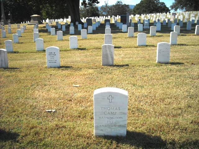 The grave of Private Thomas Camp, Chattanooga National Cemetery
