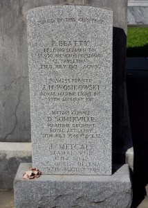 The Special Memorial in Greenwood Cemetery commemorating Leading Seaman Beatty and Seaman Metcalf