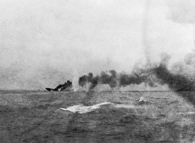 The destruction of HMS Indefatigable