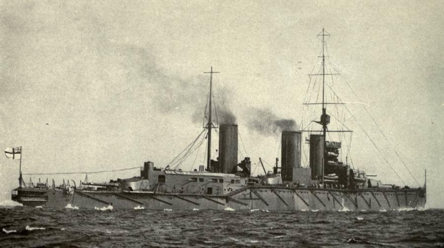 The battlecruiser HMS Queen Mary
