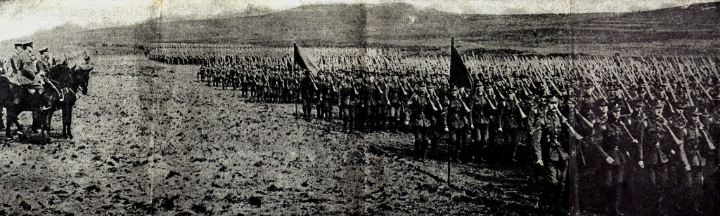 The Inspection of 36th (Ulster) Division by King George V