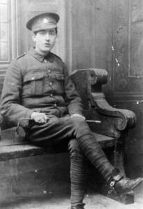 North Irish Horse recruit Frank McMahon, 1914