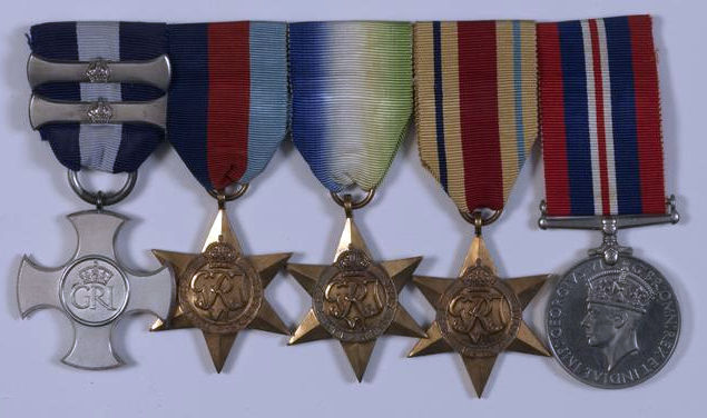The Distinguished Service Cross and two Bars of Sub-Lieutenant (Air Branch) P D J Sparke DSC, Royal Navy