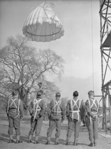 Polish soldiers training on the Tower at Largo